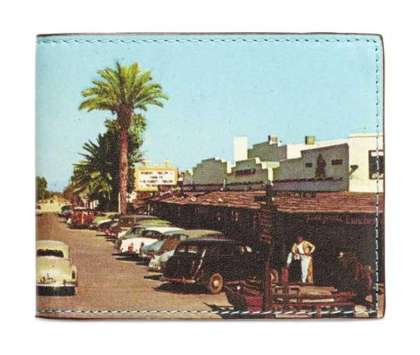 Jack Spade Landscape Print Wallet - Vintage Cars