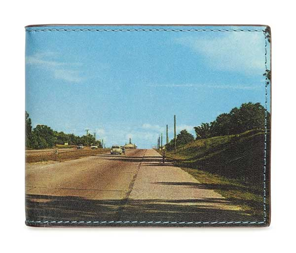 Jack Spade Landscape Print Wallet  - Old Highway road