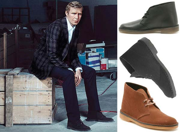 Steve McQueen and his desert boot