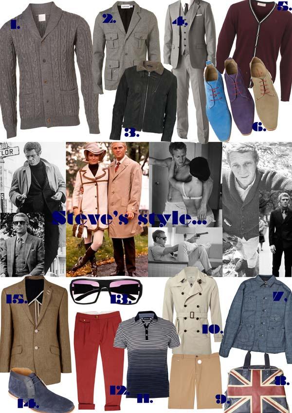 Steve McQueen's Fashion Style