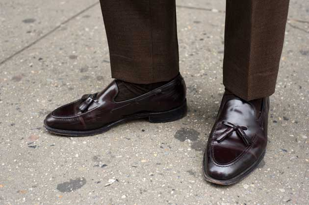 Tassel Loafer shoes with Suit combination