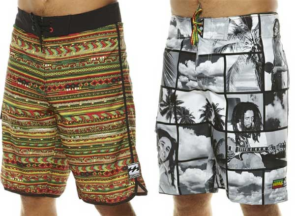 Billabong boardshorts 2012 bob marley collection