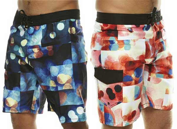 Billabong boardshorts 2012 checkered style with dots