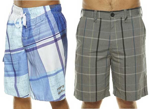 Billabong boardshorts 2012 checkered style