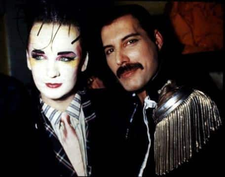 Boy George with Freddie Mercury