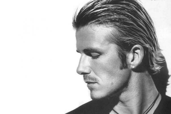 david beckham hair earrings style fashion