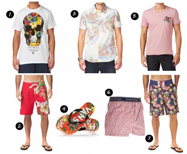 Surf ,floral shirts mens 2012