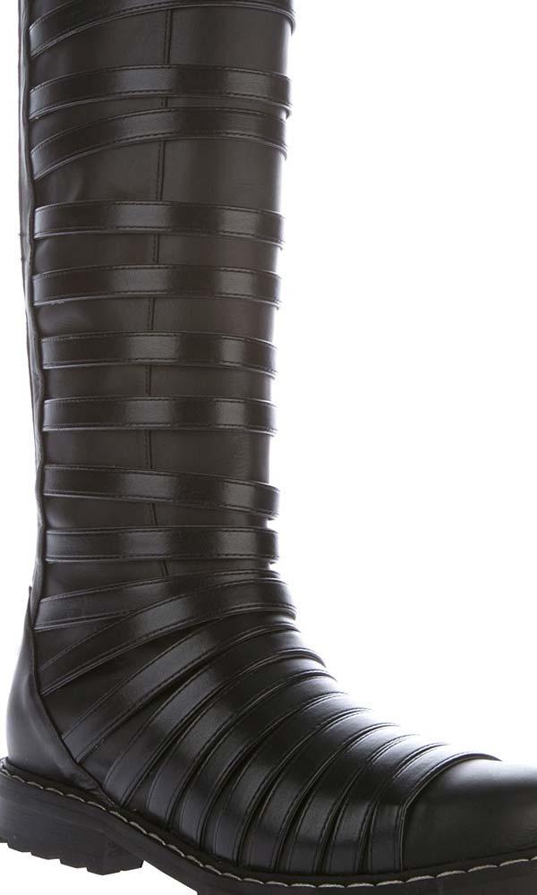 Gareth Pugh mens high strapped boot