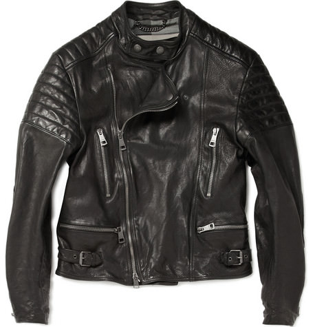 burberry leather jacket,mens black