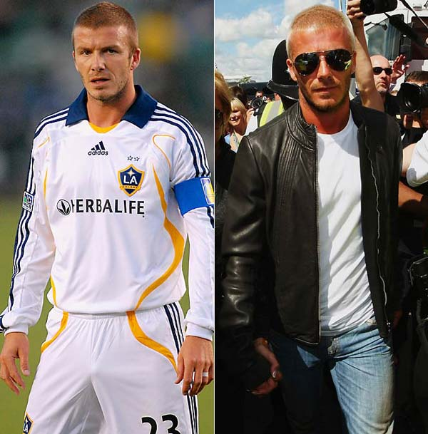 David Beckham his looks on the football field and off the field
