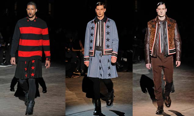 givenchy mens skirts 2012