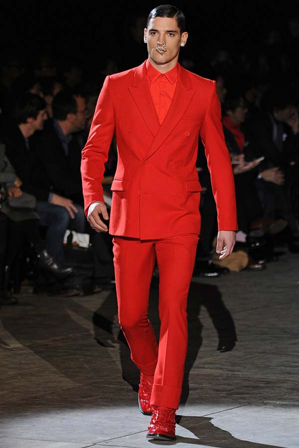 givenchy red suit 2013 mens