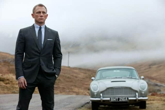 Daniel Craig as James bond grey suit skyfall