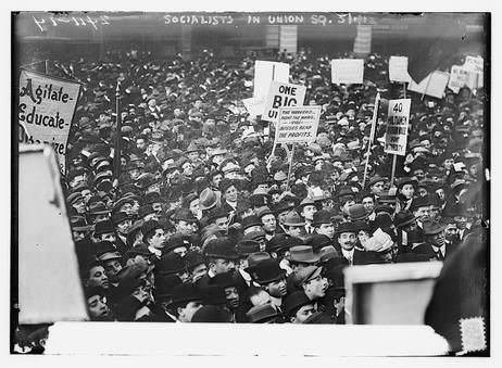 loc union square rally 1912 check out all the hats