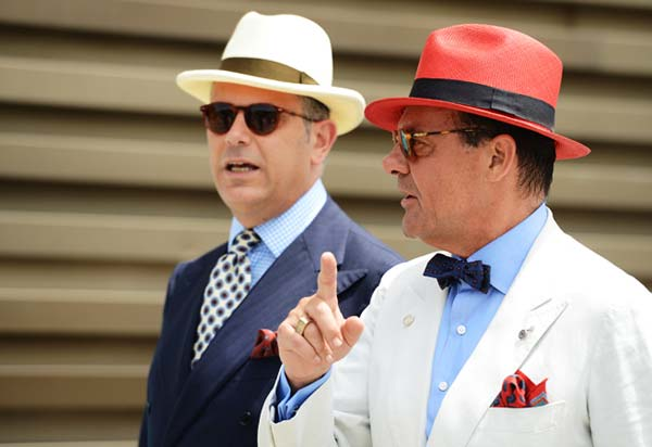 Men wearing hats in Florence