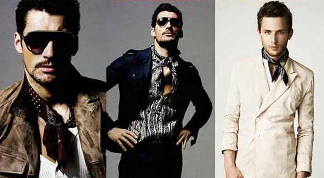neck tie for men 2012 - David Gandy wearing