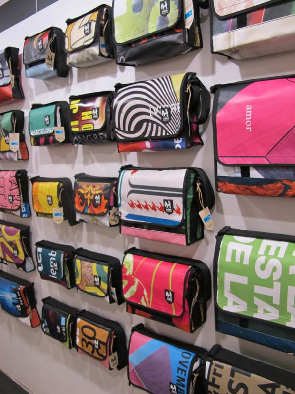 Vaho collection of man bags in Barcelona made from recycled material