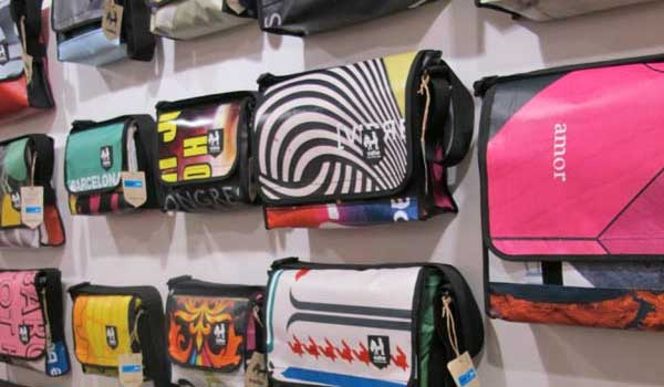 Vaho man bags recycled, Barcelona store