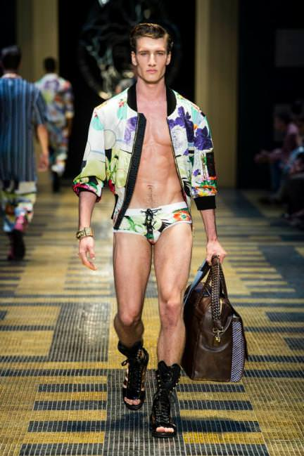 versace floral clothing for men underwear and jacket