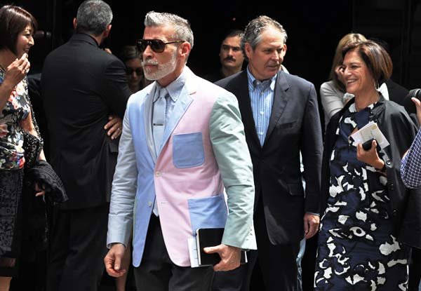 Nick-Wooster,wearing a blazer