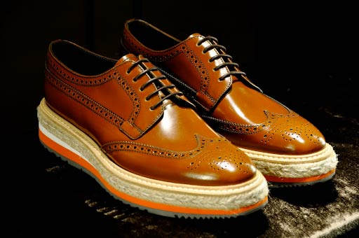 PRADA brown brogue 2012