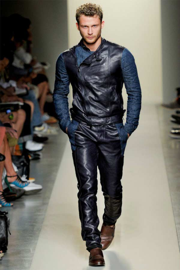 bottega-ve​neta-men-s​pring-summ​er-2012bik​er-outfits
