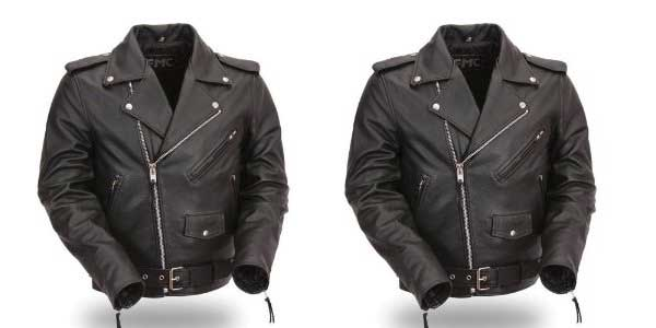 Harley Davidson men's leather aviator jacket