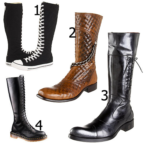 Knee-high boots for men 2012