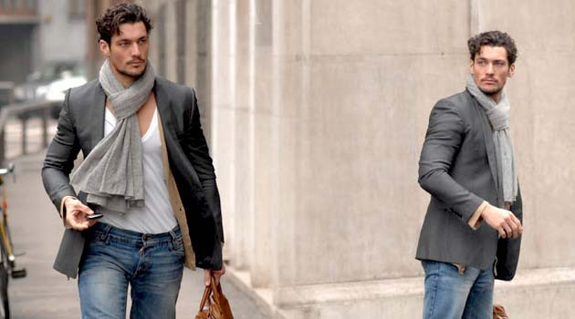 david gandy - chunky scarves
