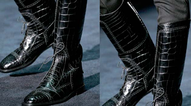 Gucci Boots - black alligator -2012