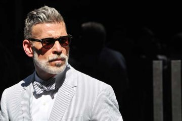 nick-wooster, wearing a bow tie