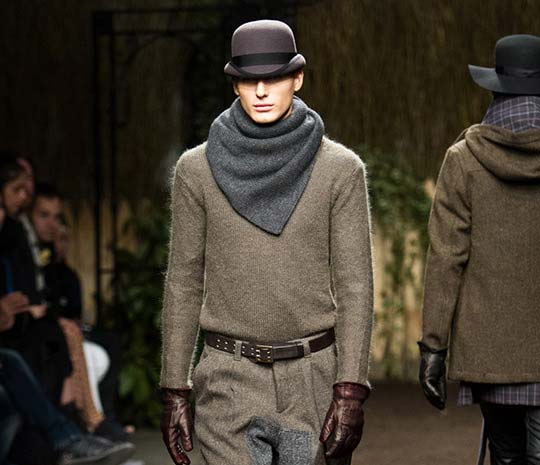robert-geller-fall-winter-2012, chunky scarves