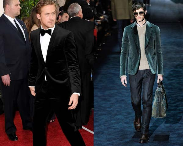 ryan gosling - wearing black velvet tux
