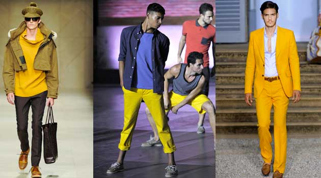mustard colour menswear collections - winter - 2012