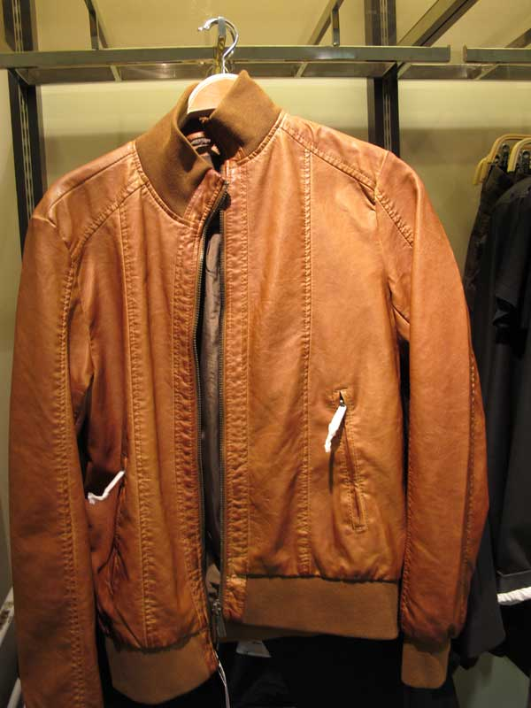 zara-men,-leather-brown,,-tan,-bomber--jacket