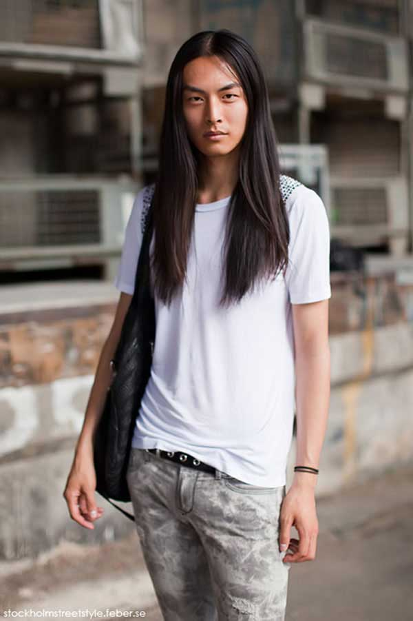David Chiang - Asian male model - Long hair