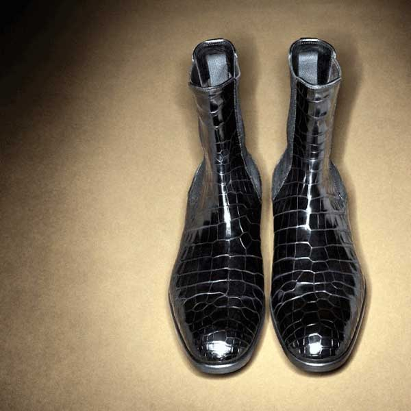 Selfridges Exclusive Tom Ford Croc Oxford Boots
