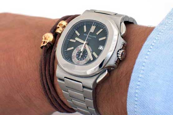 Skulls Patek Men Wearing Bracelets