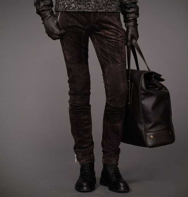 TELFORD TROUSERS In Oiled Suede - Belstaff