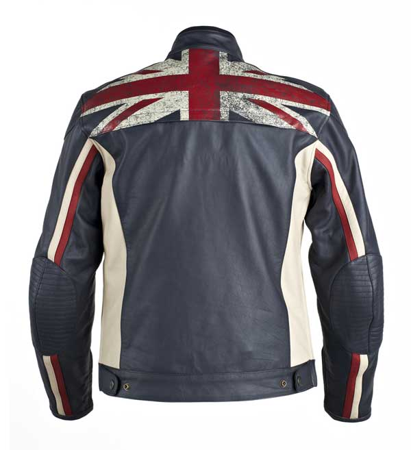 UNION JACK world of triumph motorbikes leather jacket
