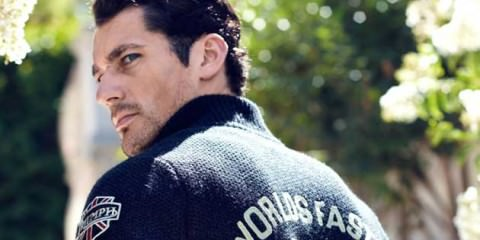 David Gandy Lucky Brand 2012 Free Your Festive Spirit Motorbike Fashion
