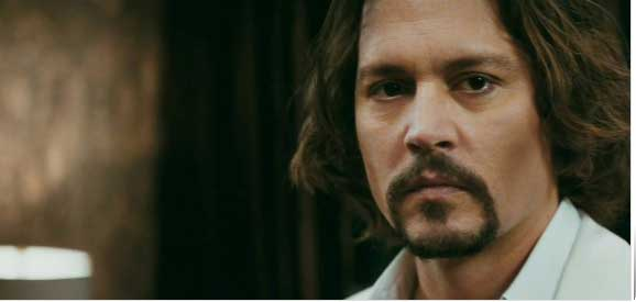 johnny depp as frank taylor in the tourist - moustache