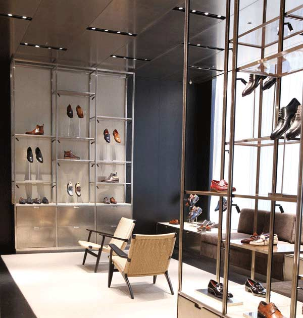 The new unisex shoe department at Barneys New York in Manhattan