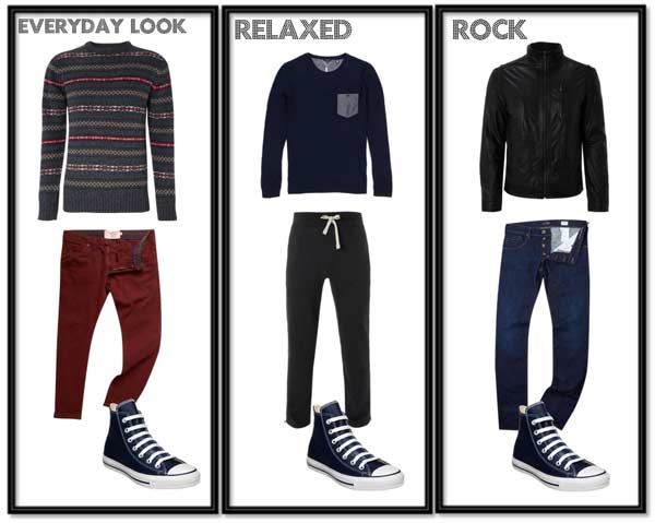 3 pairs of casual looks to match the shoes