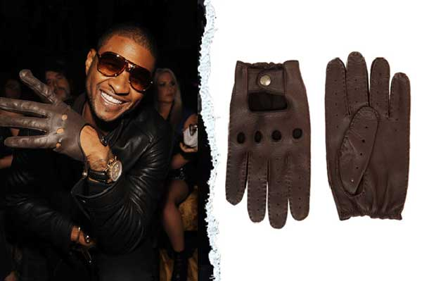 Usher Driving Gloves - leather brown