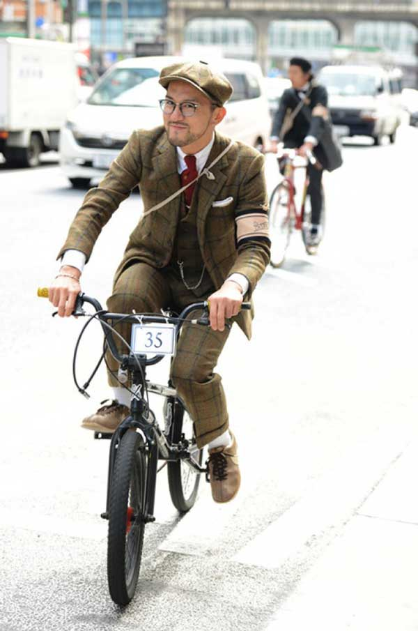 bmx boy style - three piece tweed suit - barret