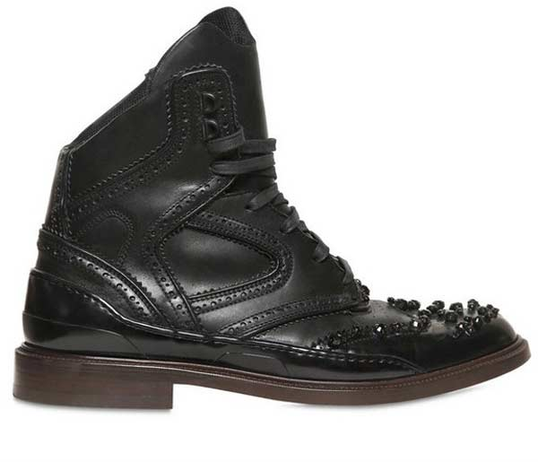 Givenchy, black beaded sneaker boots