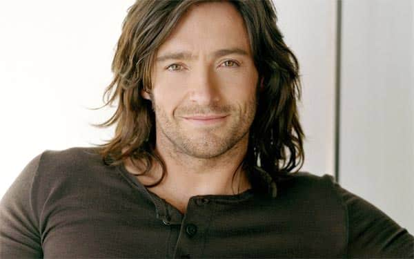 Hugh Jackman with long hair