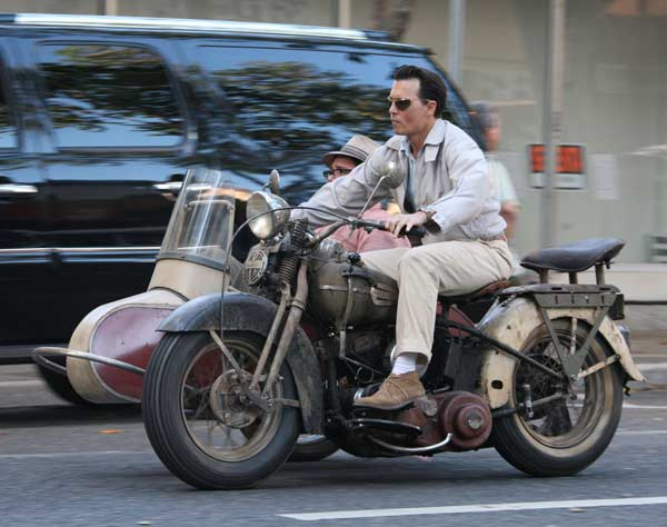 Johnny Depp, Riding his motorbike