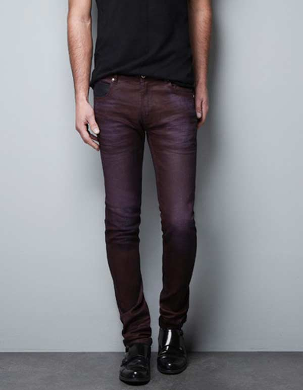 Zara men - Stretch Skinny Jeans, Burgundy